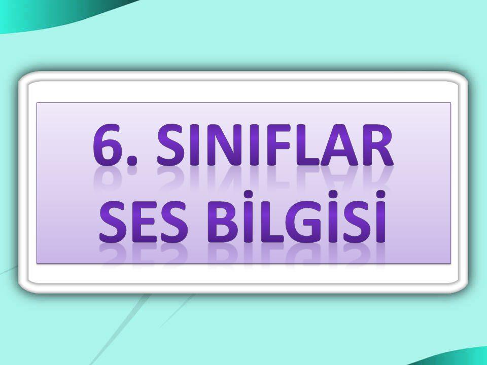 6. SINIFLAR SES BİLGİSİ