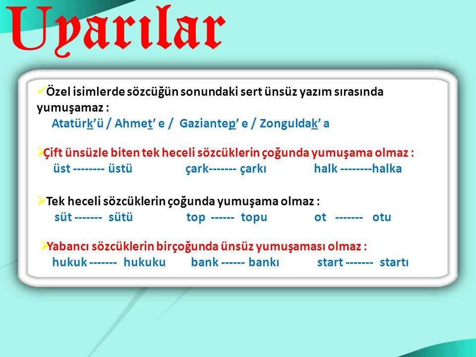 Atatürk'ü / Ahmet' e / Gaziantep' e / Zonguldak' a