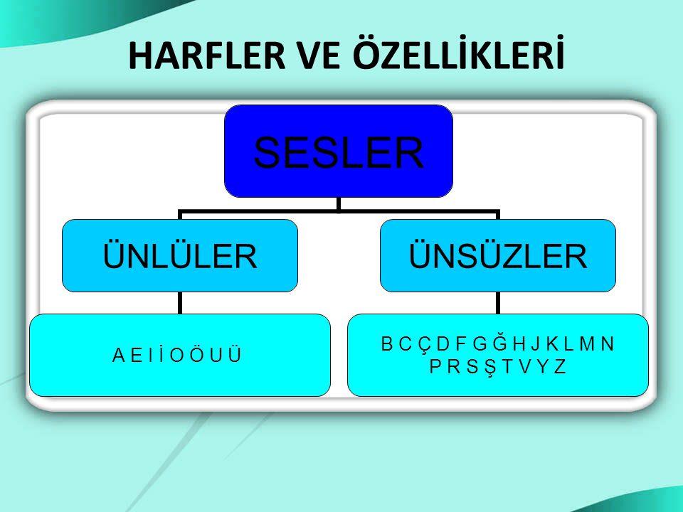 HARFLER VE ÖZELLİKLERİ