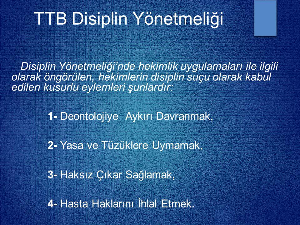 TTB Disiplin Yönetmeliği