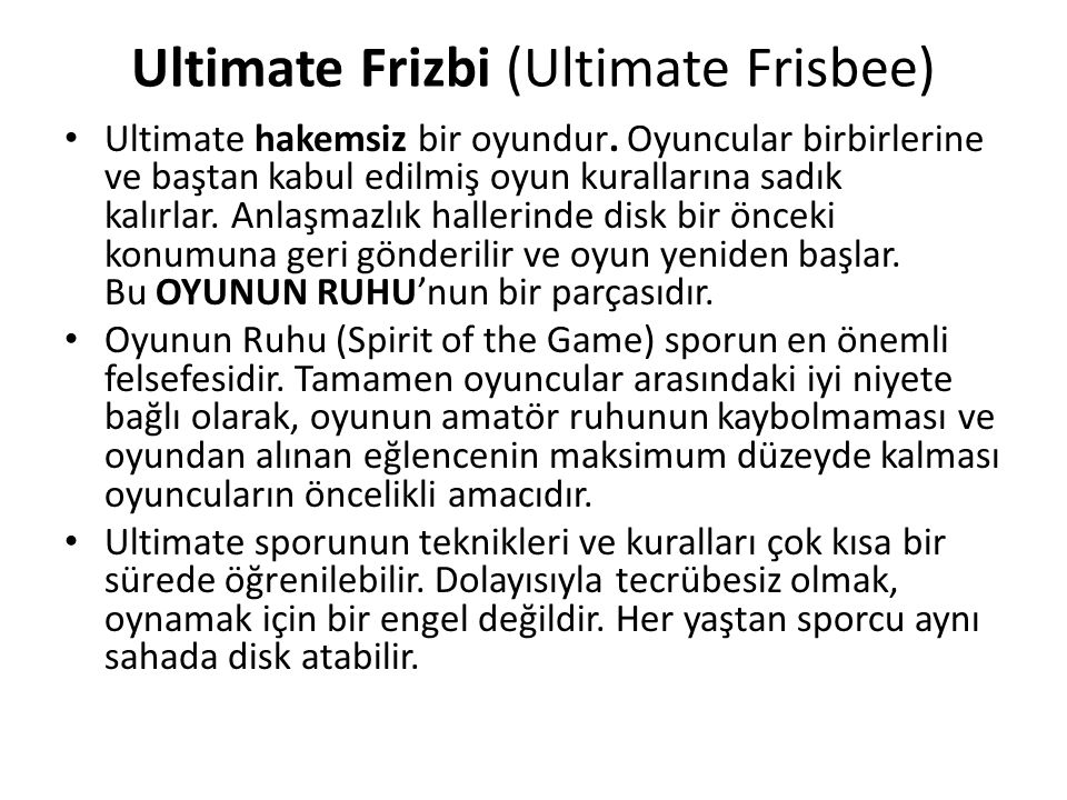 Ultimate Frizbi (Ultimate Frisbee)
