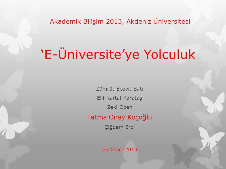 'E-Üniversite'ye Yolculuk