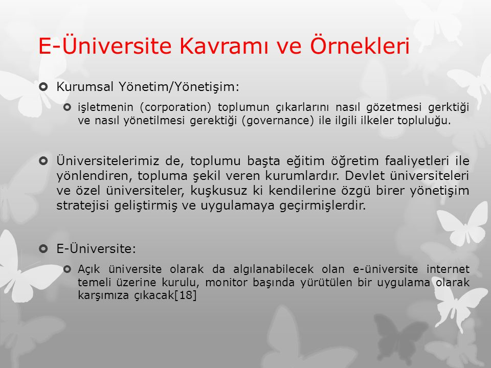E-Üniversite Kavramı ve Örnekleri