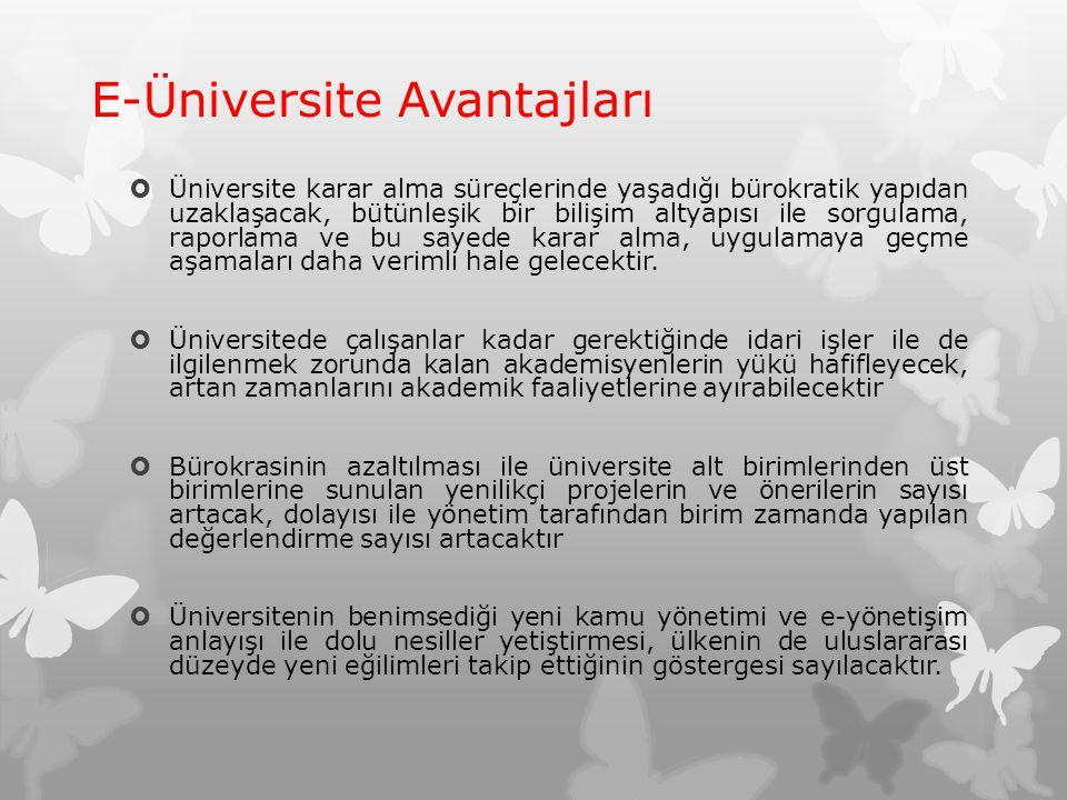 E-Üniversite Avantajları