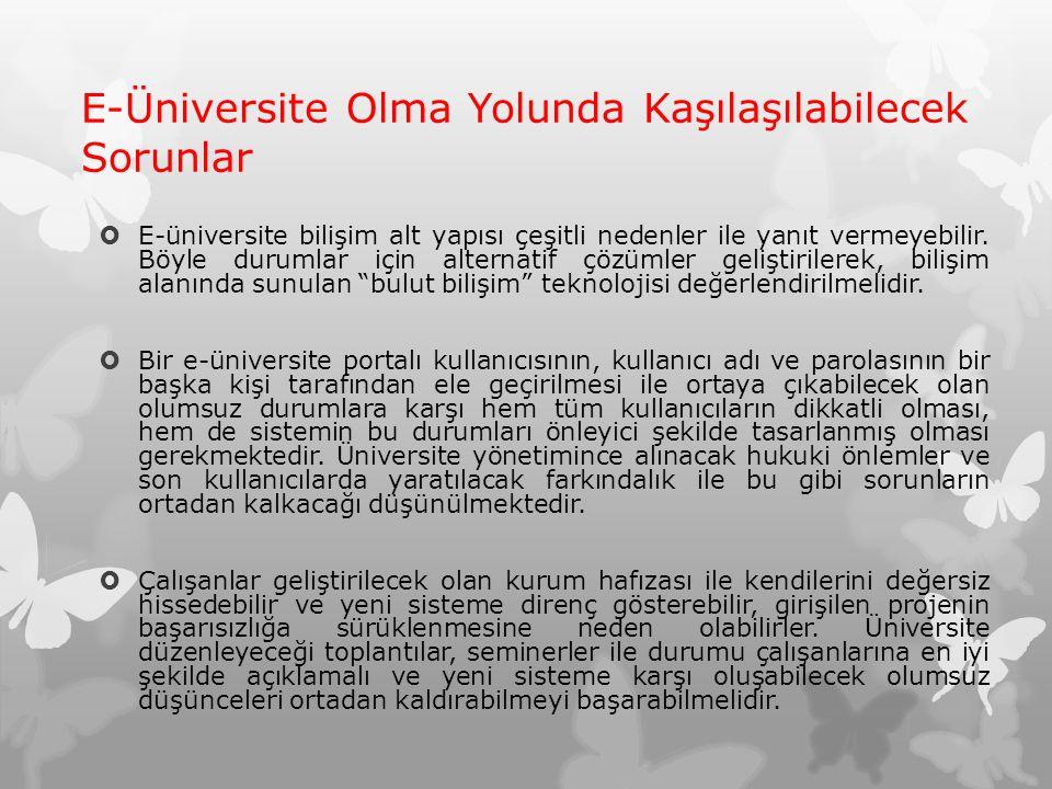 E-Üniversite Olma Yolunda Kaşılaşılabilecek Sorunlar