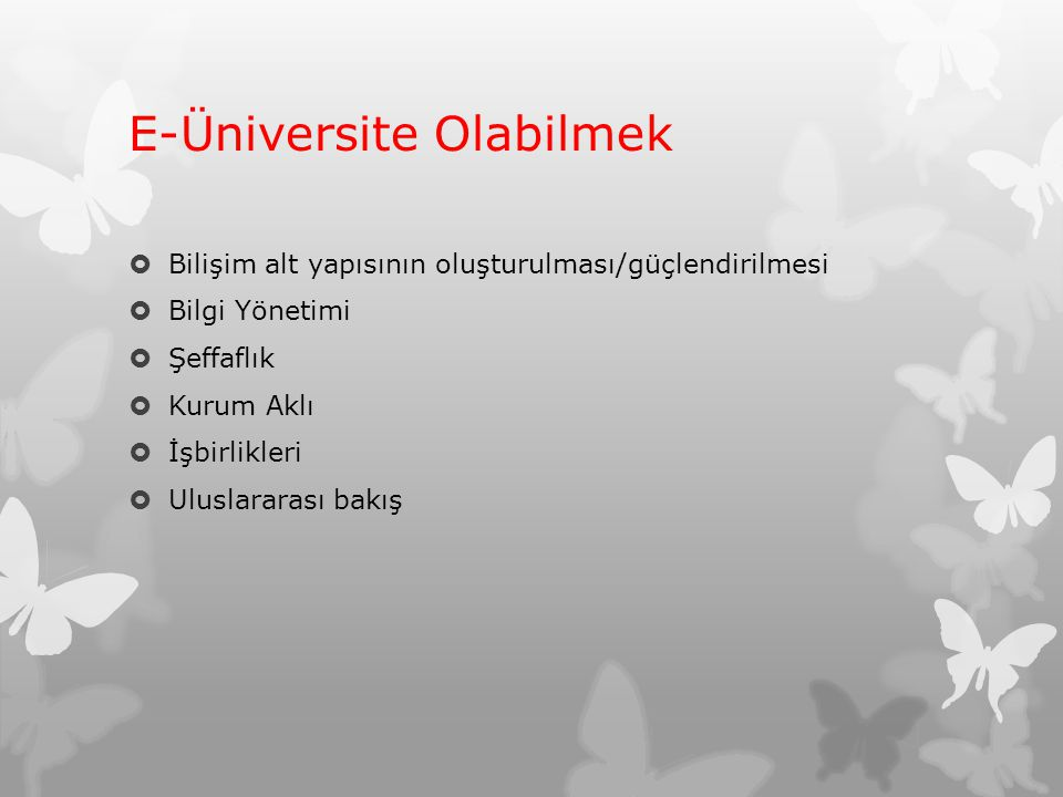 E-Üniversite Olabilmek
