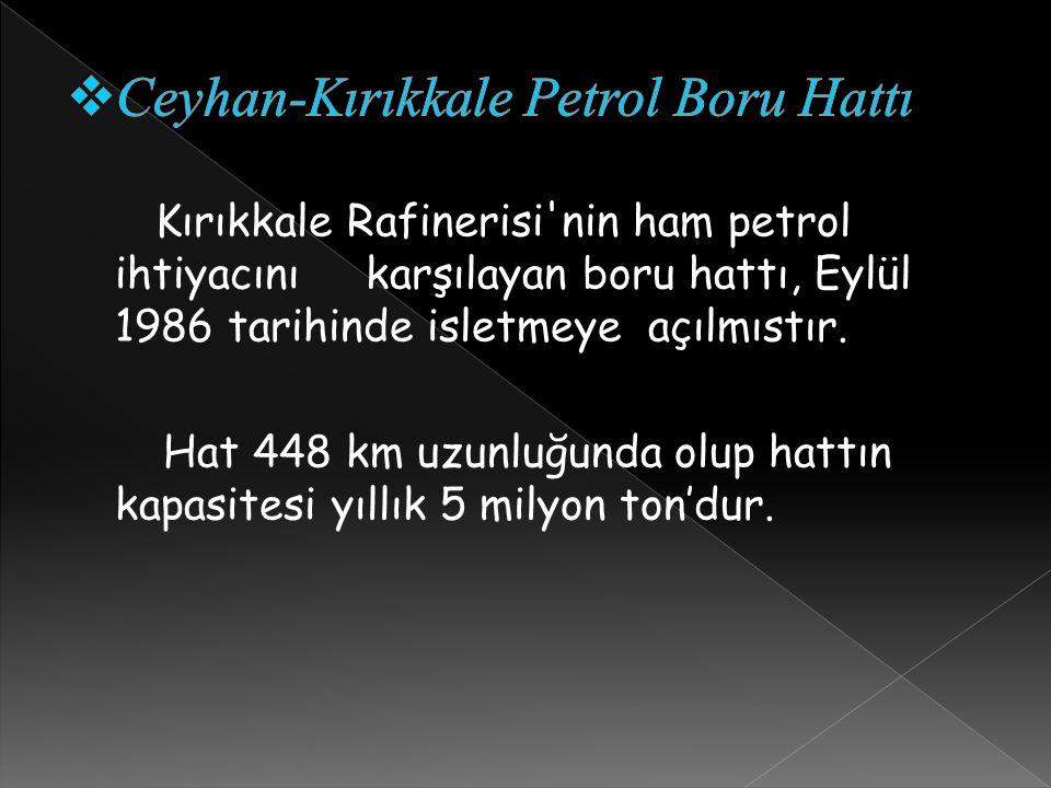 Ceyhan-Kırıkkale Petrol Boru Hattı