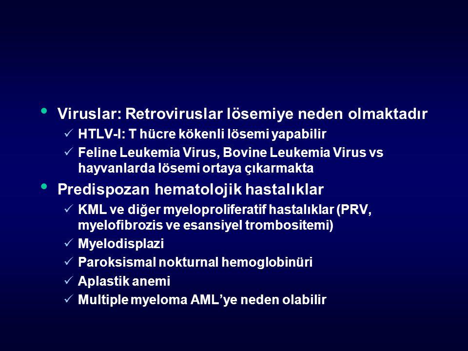 Viruslar: Retroviruslar lösemiye neden olmaktadır