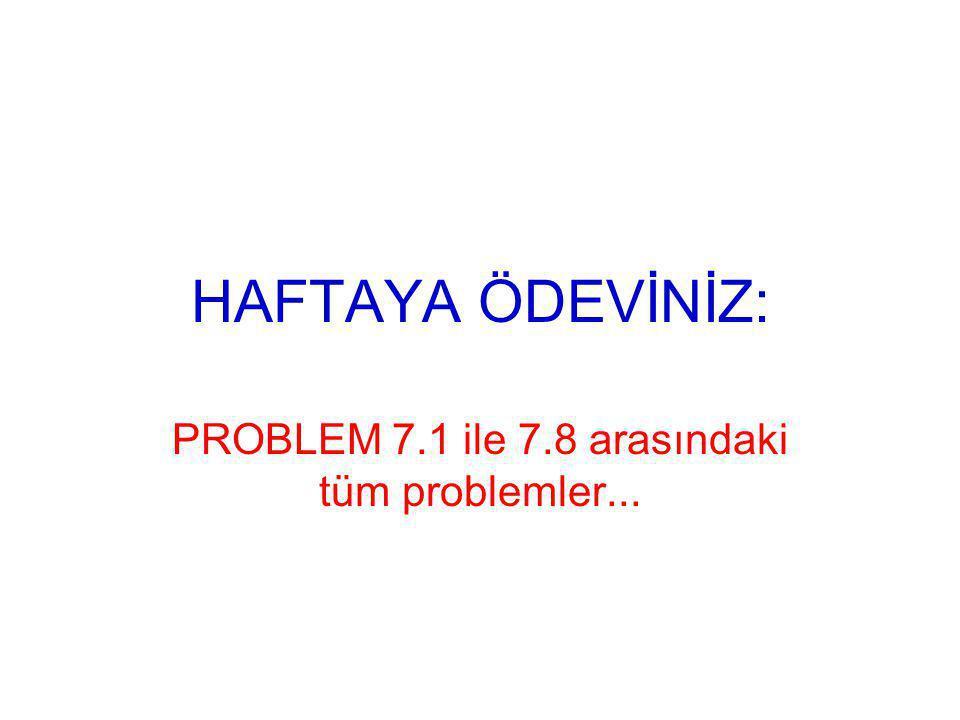 PROBLEM 7.1 ile 7.8 arasındaki tüm problemler...