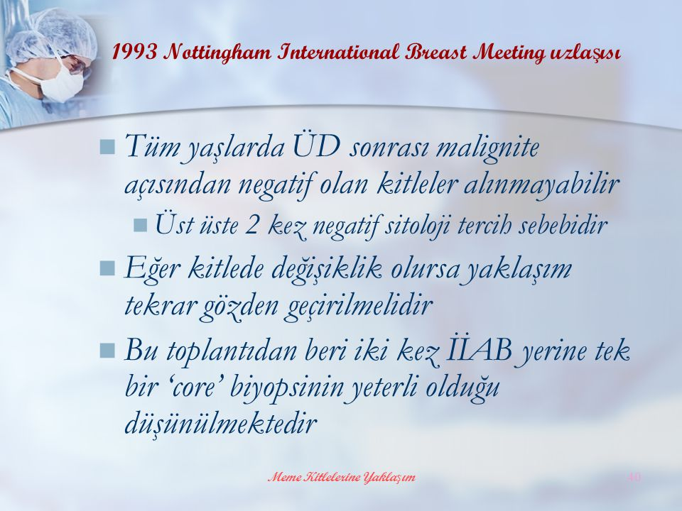 1993 Nottingham International Breast Meeting uzlaşısı
