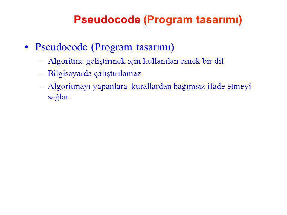 Pseudocode (Program tasarımı)