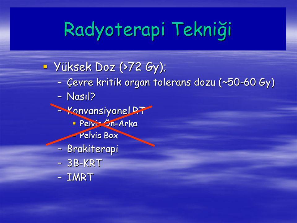Radyoterapi Tekniği Yüksek Doz (>72 Gy);