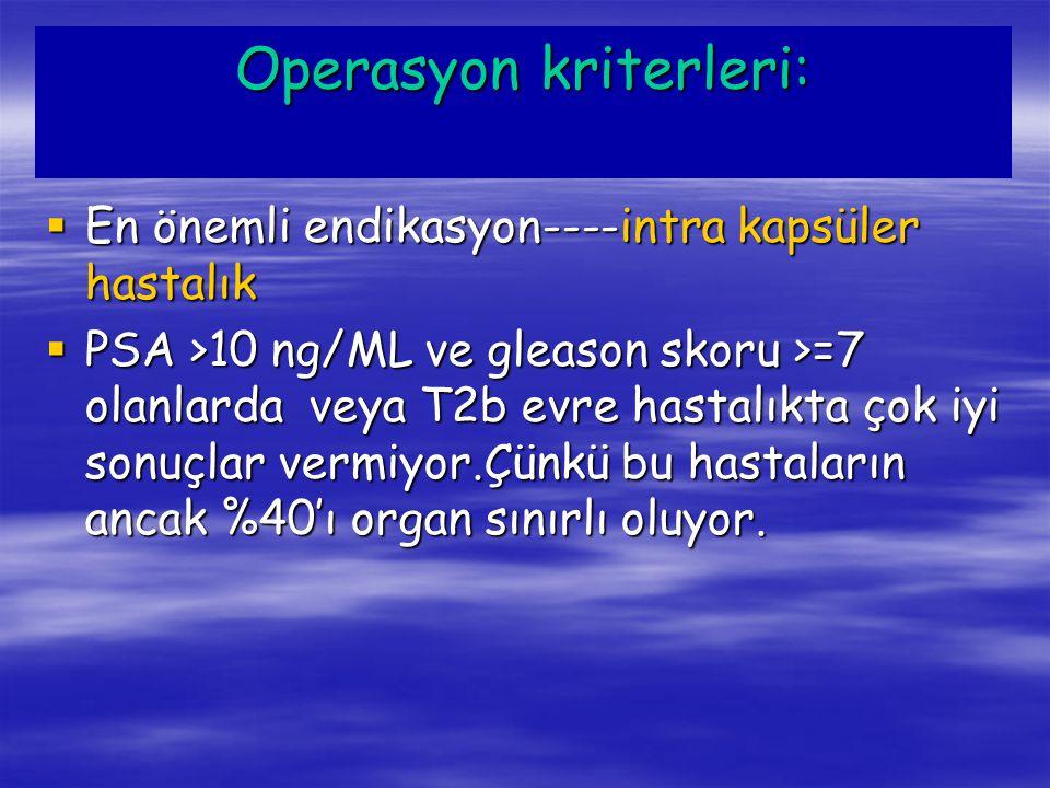 Operasyon kriterleri: