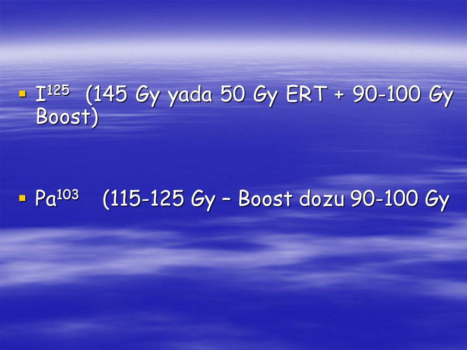 I125 (145 Gy yada 50 Gy ERT + 90-100 Gy Boost)