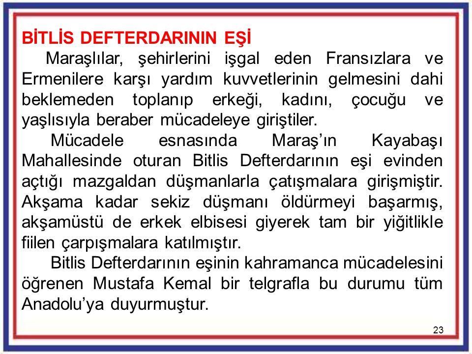 BİTLİS DEFTERDARININ EŞİ