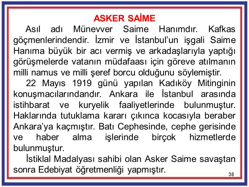 ASKER SAİME