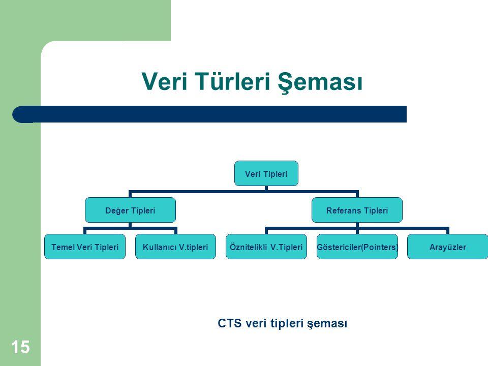 CTS veri tipleri şeması