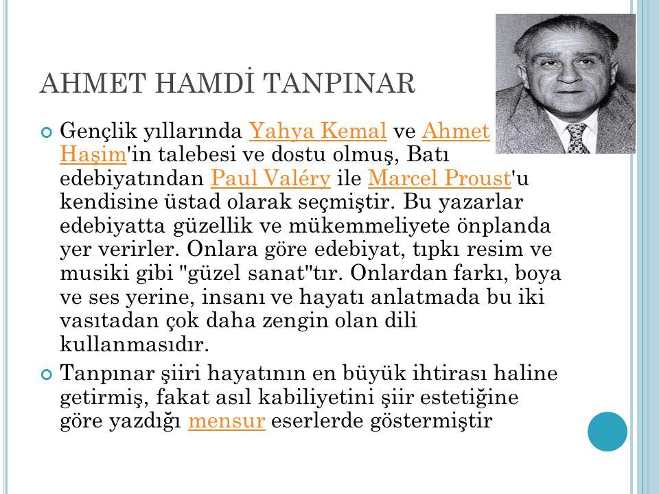 AHMET HAMDİ TANPINAR