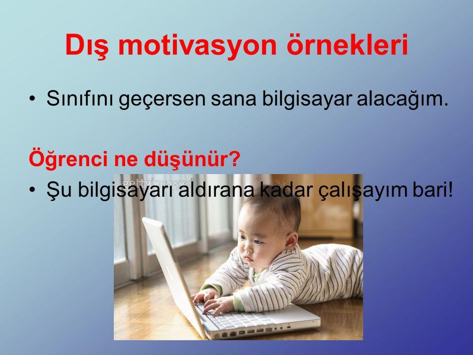 Dış motivasyon örnekleri