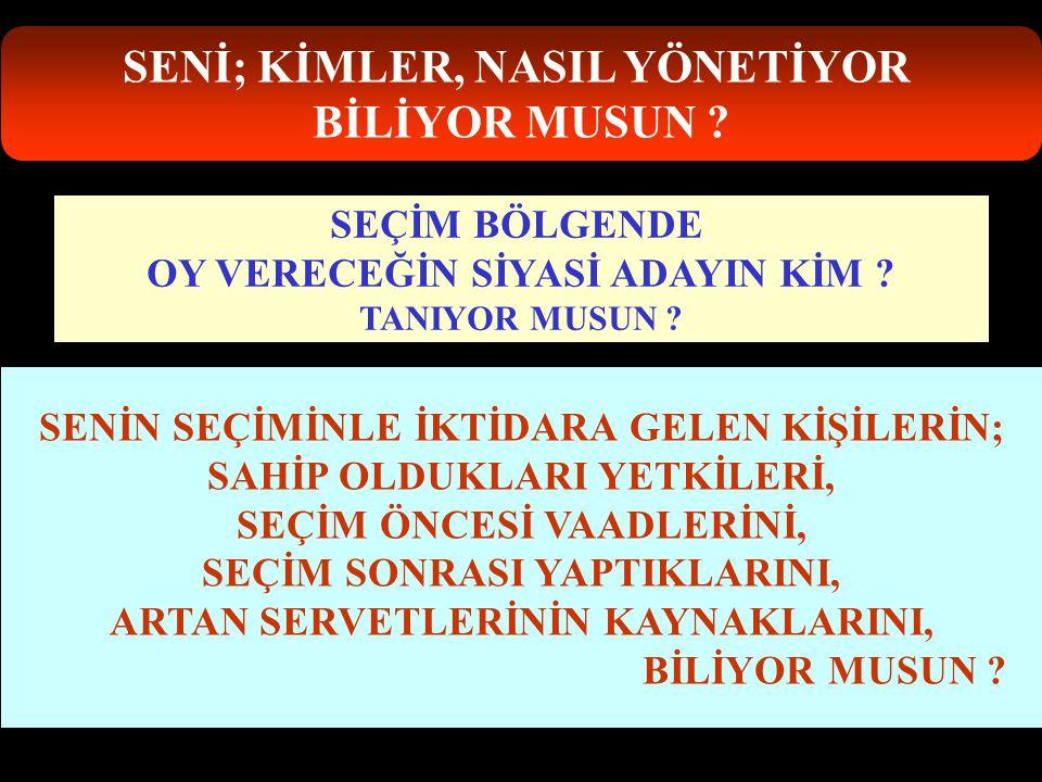 SENİ; KİMLER, NASIL YÖNETİYOR BİLİYOR MUSUN