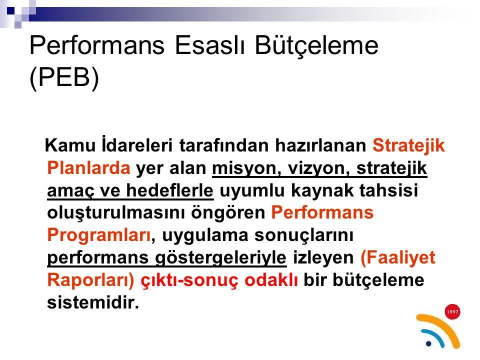 Performans Esaslı Bütçeleme (PEB)