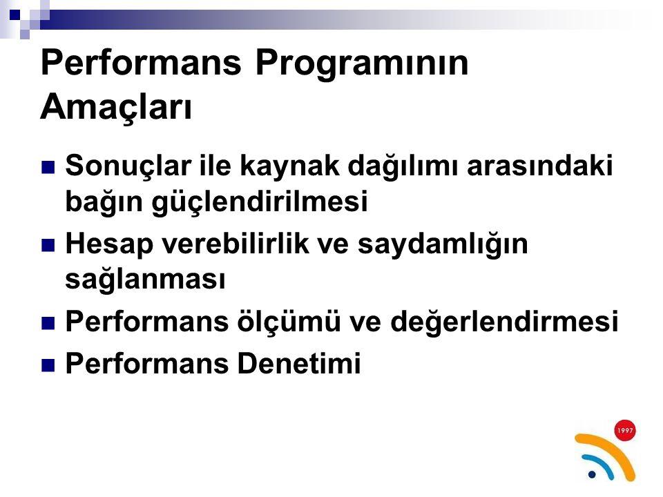 Performans Programının Amaçları