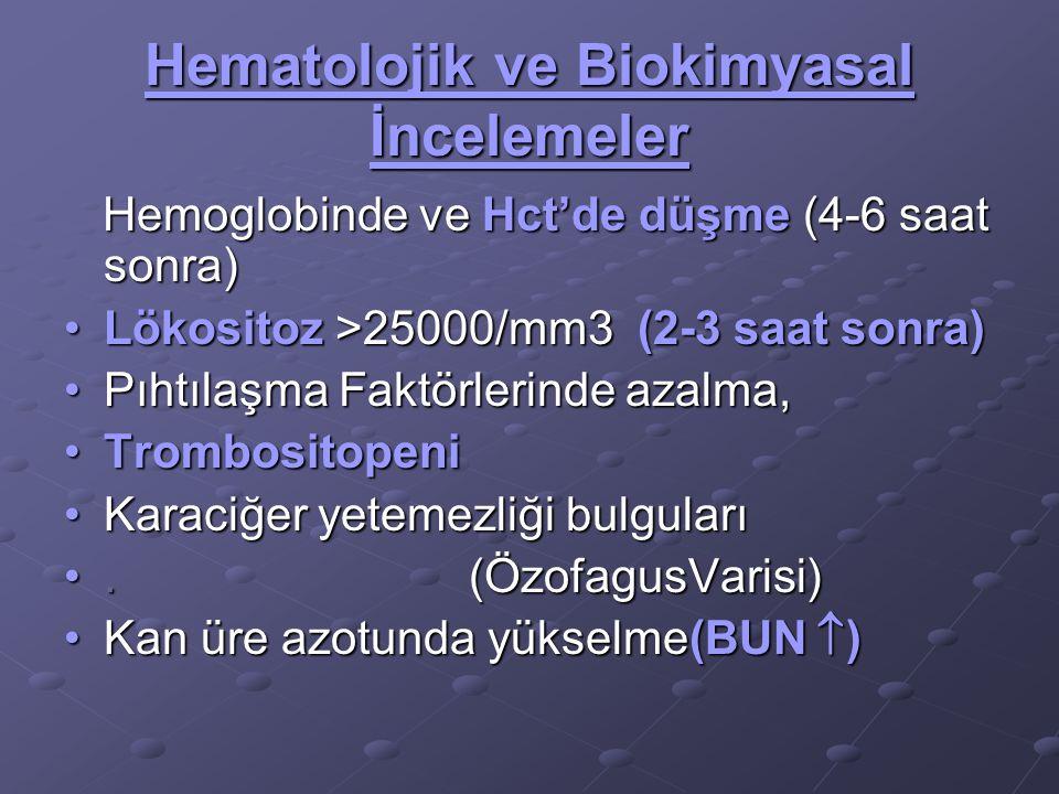 Hematolojik ve Biokimyasal İncelemeler