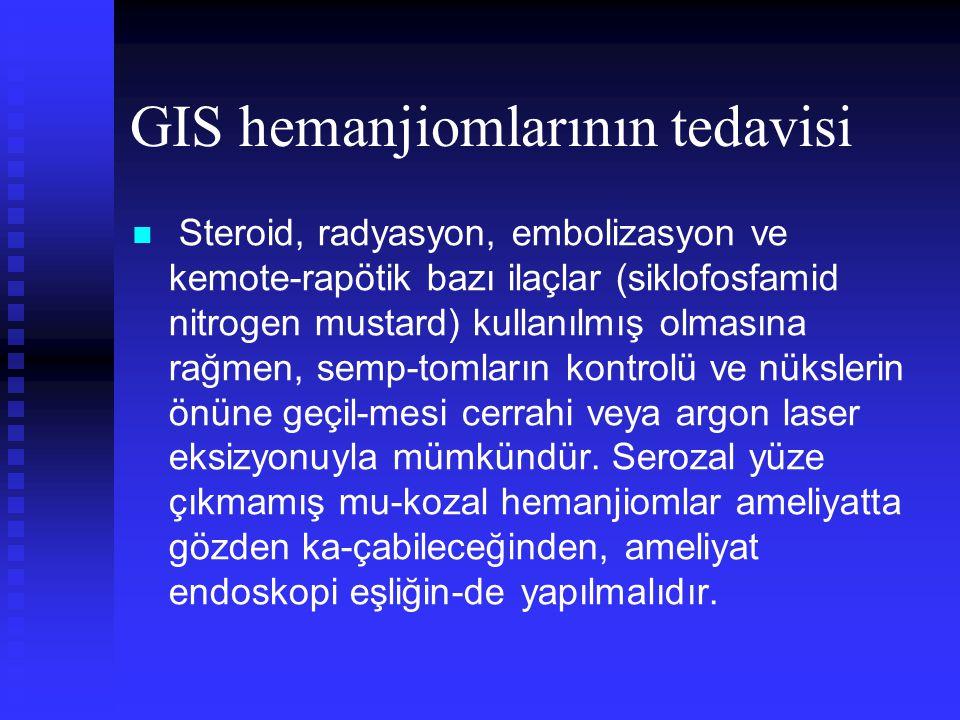 GIS hemanjiomlarının tedavisi