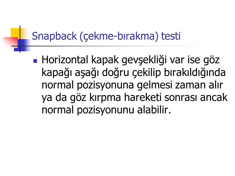 Snapback (çekme-bırakma) testi