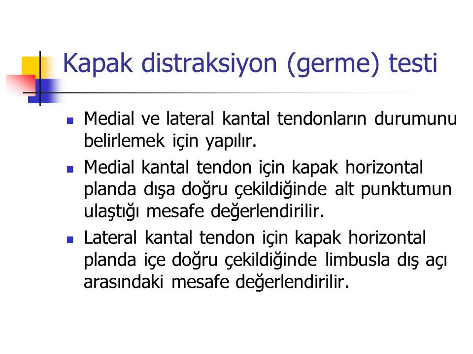 Kapak distraksiyon (germe) testi