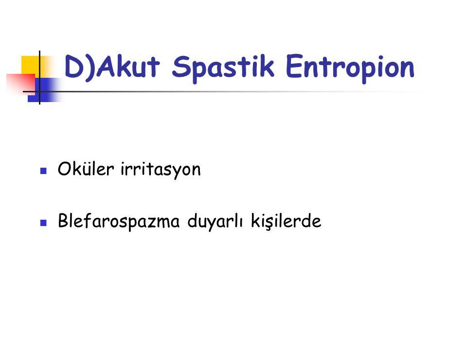 D)Akut Spastik Entropion