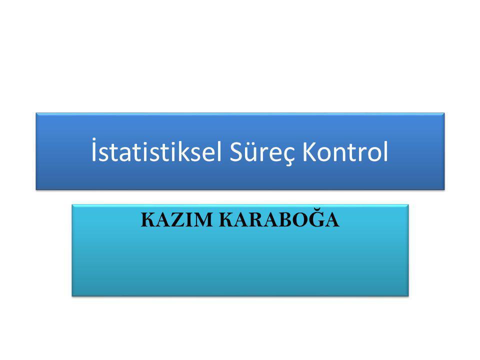 İstatistiksel Süreç Kontrol
