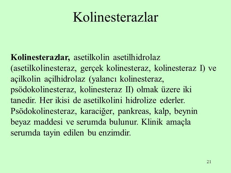 Kolinesterazlar