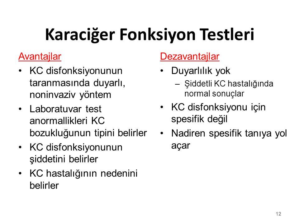 Karaciğer Fonksiyon Testleri