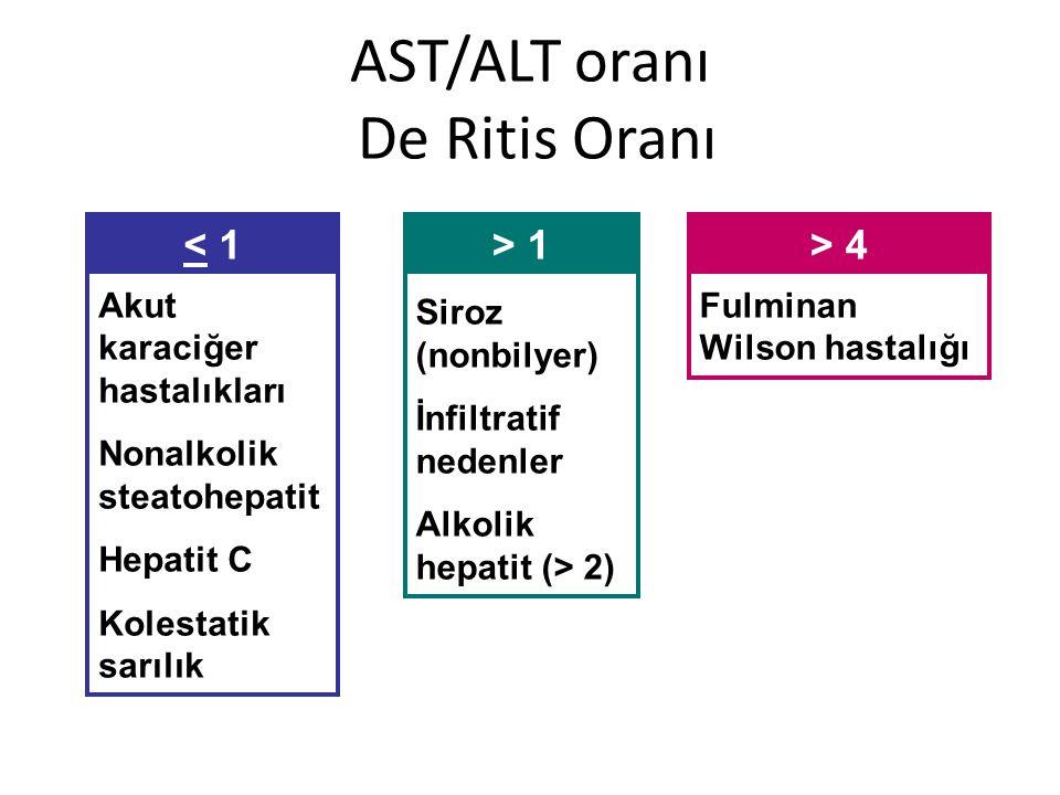 AST/ALT oranı De Ritis Oranı