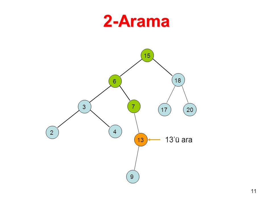 2-Arama 15 6 18 3 7 17 20 2 4 13 13'ü ara 9