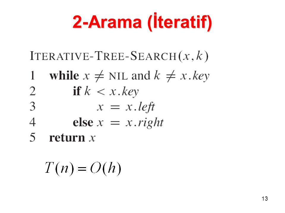 2-Arama (İteratif) 13 13