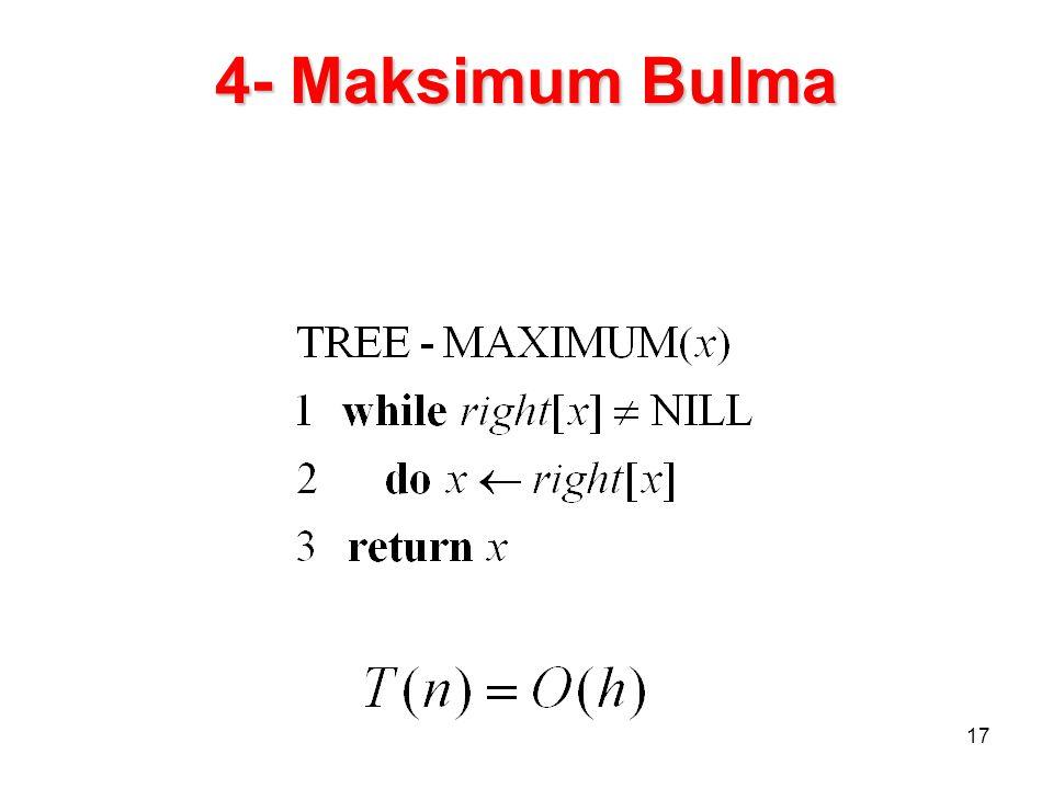 4- Maksimum Bulma