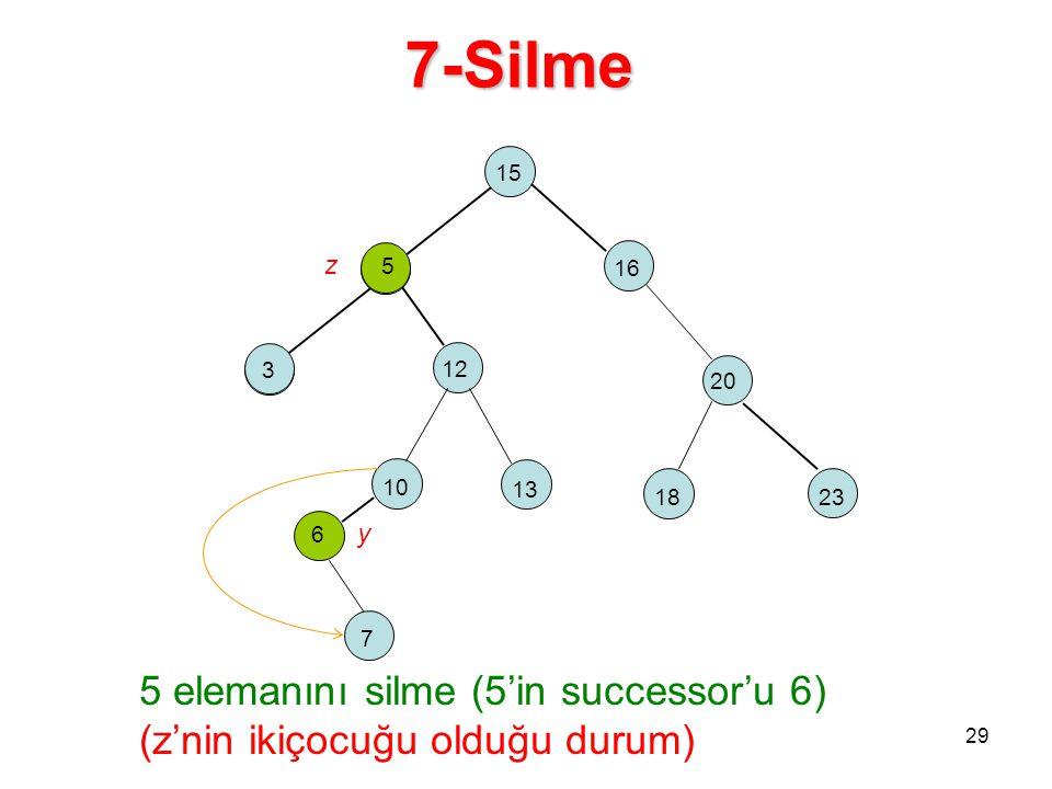 7-Silme 15. z 5. 5. 16. 3. 2. 12. 20. 10. 13. 18. 23. 6 y. 7.