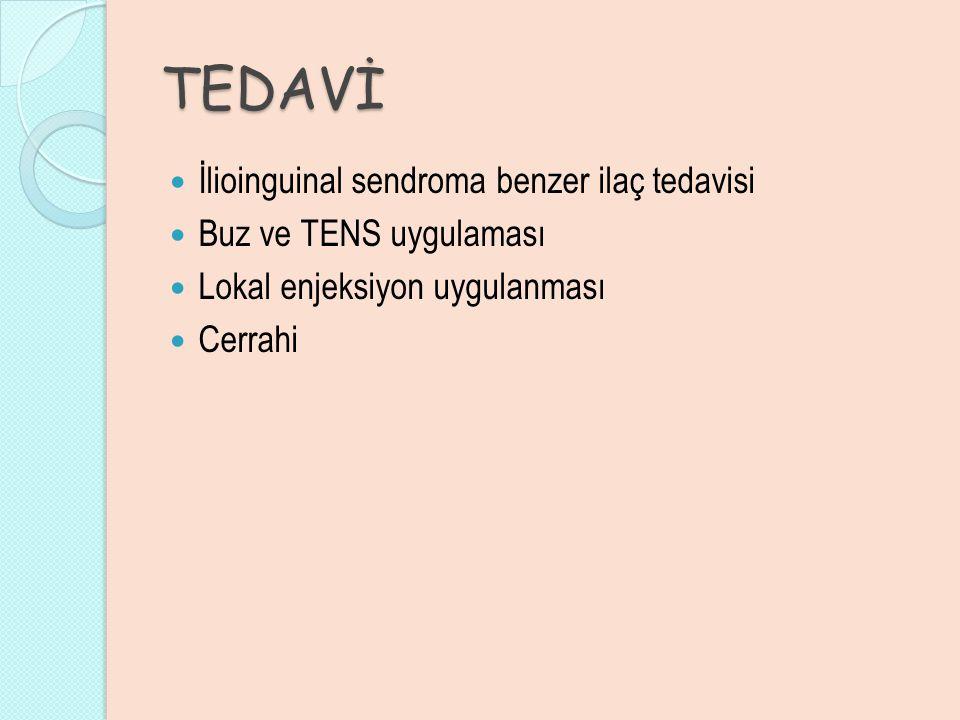 TEDAVİ İlioinguinal sendroma benzer ilaç tedavisi