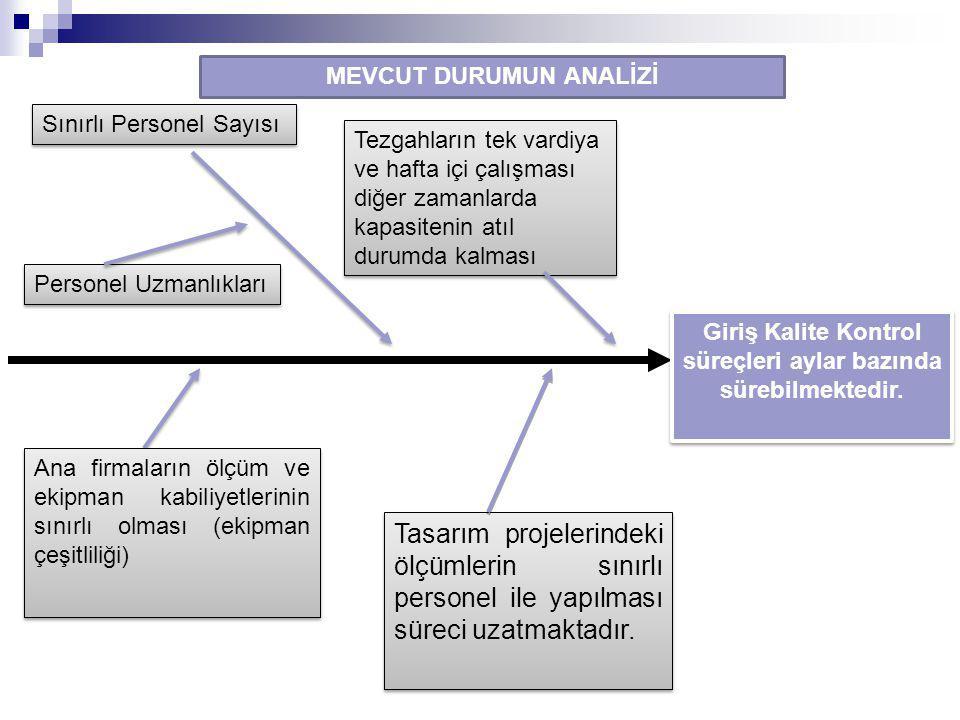 Giriş Kalite Kontrol süreçleri aylar bazında sürebilmektedir.