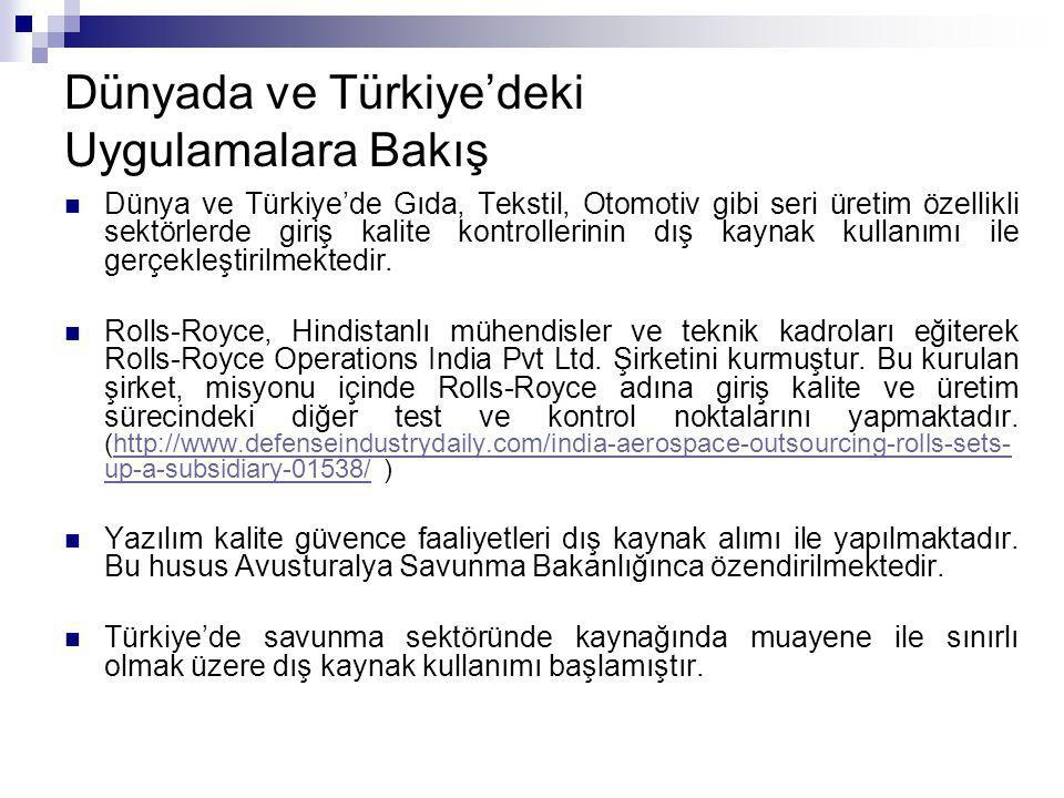 Dünyada ve Türkiye'deki Uygulamalara Bakış
