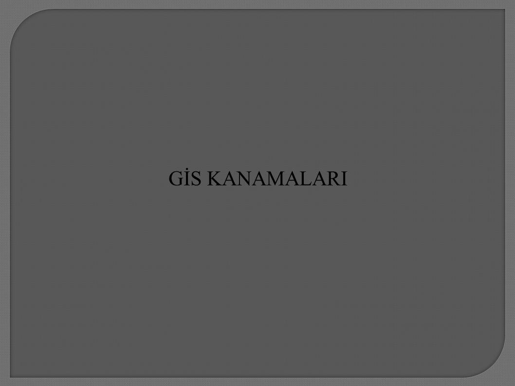 GİS KANAMALARI