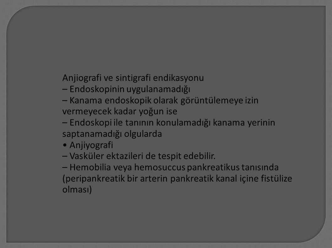 Anjiografi ve sintigrafi endikasyonu