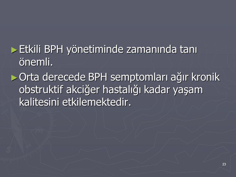 Etkili BPH yönetiminde zamanında tanı önemli.
