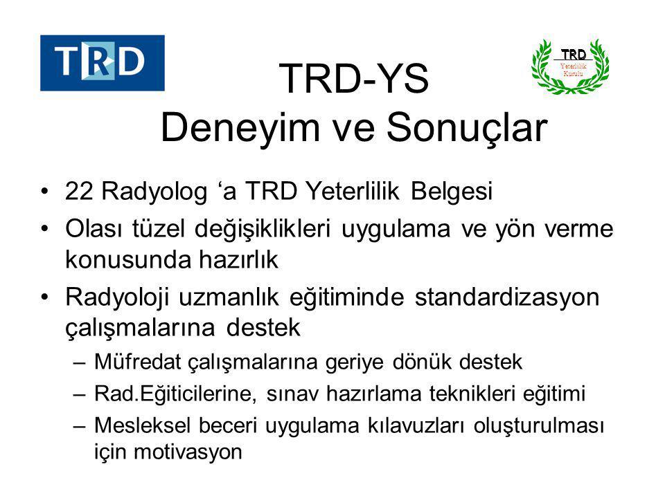 TRD-YS Deneyim ve Sonuçlar
