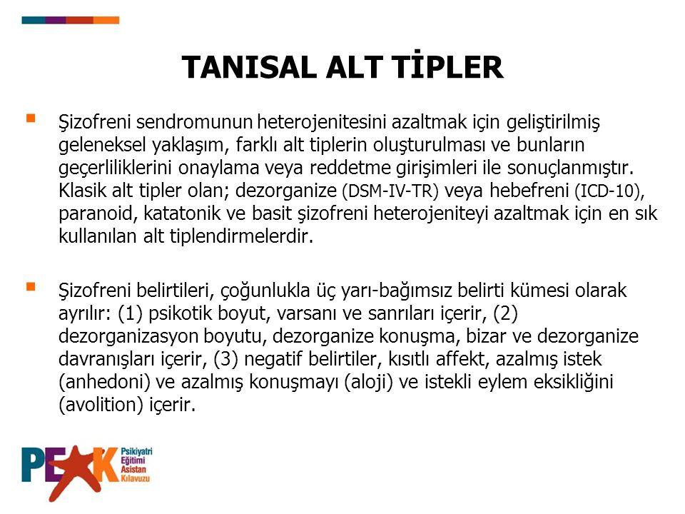 TANISAL ALT TİPLER