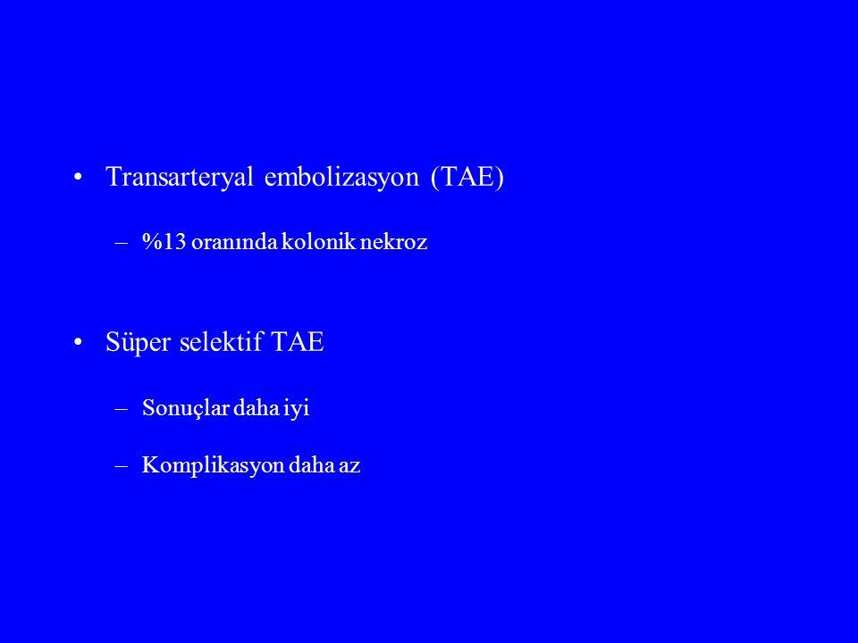 Transarteryal embolizasyon (TAE)
