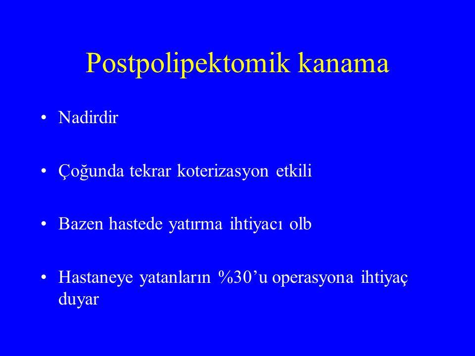 Postpolipektomik kanama