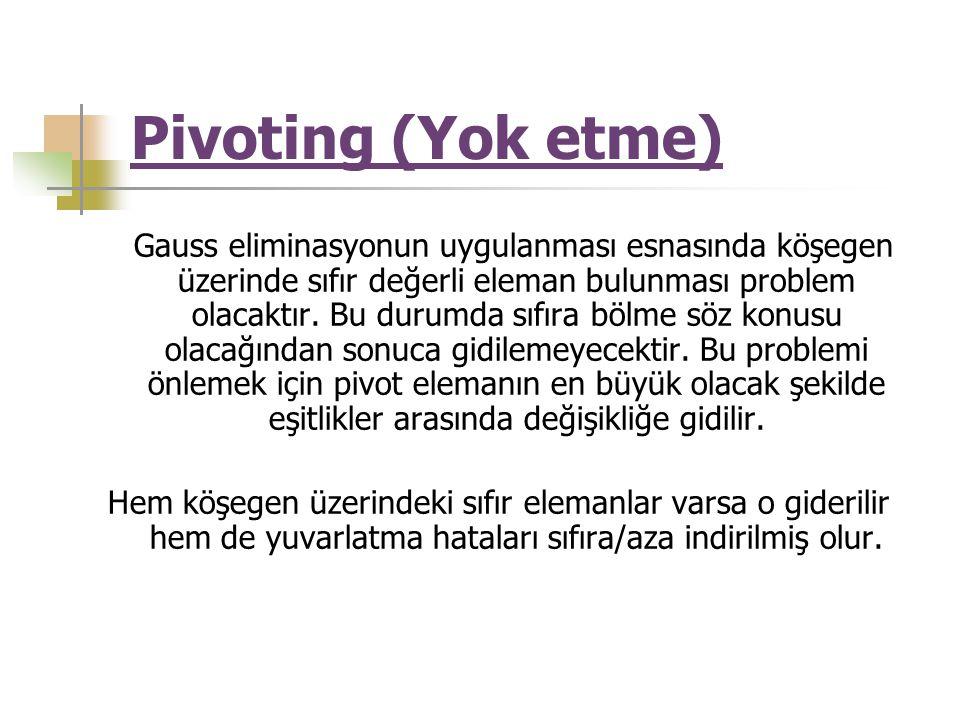 Pivoting (Yok etme)